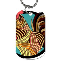 Rooster Poultry Animal Farm Dog Tag (two Sides)