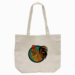Rooster Poultry Animal Farm Tote Bag (cream)