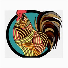 Rooster Poultry Animal Farm Small Glasses Cloth