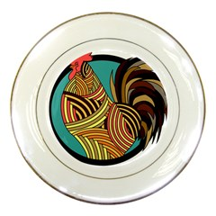 Rooster Poultry Animal Farm Porcelain Plates