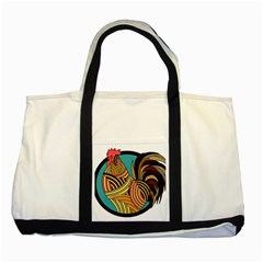 Rooster Poultry Animal Farm Two Tone Tote Bag