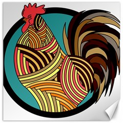 Rooster Poultry Animal Farm Canvas 16  X 16