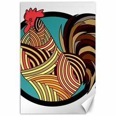 Rooster Poultry Animal Farm Canvas 24  x 36