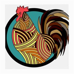 Rooster Poultry Animal Farm Medium Glasses Cloth (2 Side)