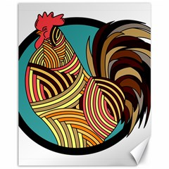 Rooster Poultry Animal Farm Canvas 11  X 14