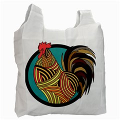 Rooster Poultry Animal Farm Recycle Bag (two Side)