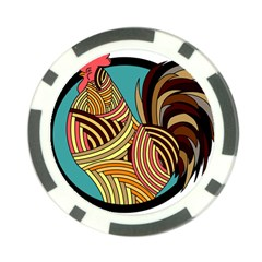 Rooster Poultry Animal Farm Poker Chip Card Guard (10 Pack)