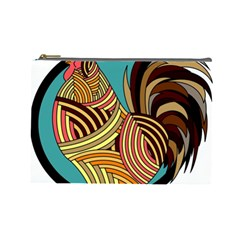 Rooster Poultry Animal Farm Cosmetic Bag (large)