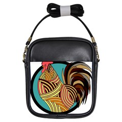 Rooster Poultry Animal Farm Girls Sling Bags