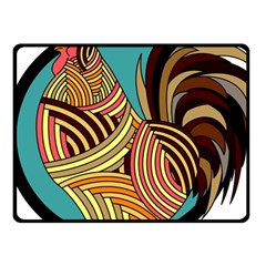 Rooster Poultry Animal Farm Fleece Blanket (small)