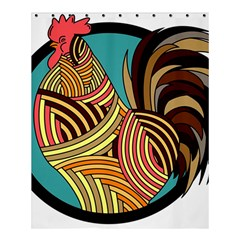 Rooster Poultry Animal Farm Shower Curtain 60  X 72  (medium)