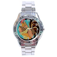 Rooster Poultry Animal Farm Stainless Steel Analogue Watch