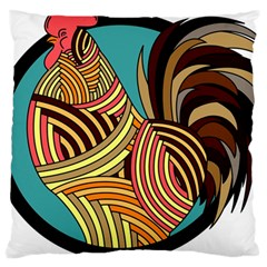 Rooster Poultry Animal Farm Large Cushion Case (one Side)