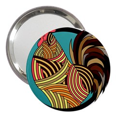 Rooster Poultry Animal Farm 3  Handbag Mirrors