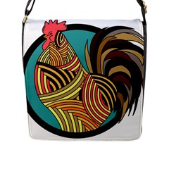 Rooster Poultry Animal Farm Flap Messenger Bag (l)