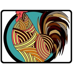 Rooster Poultry Animal Farm Double Sided Fleece Blanket (large)