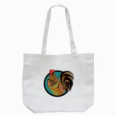Rooster Poultry Animal Farm Tote Bag (white)