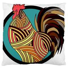 Rooster Poultry Animal Farm Standard Flano Cushion Case (one Side)