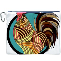 Rooster Poultry Animal Farm Canvas Cosmetic Bag (xxxl)
