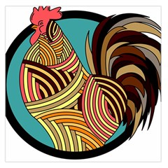 Rooster Poultry Animal Farm Large Satin Scarf (Square)