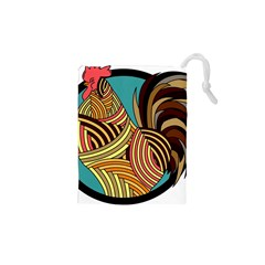 Rooster Poultry Animal Farm Drawstring Pouches (xs)