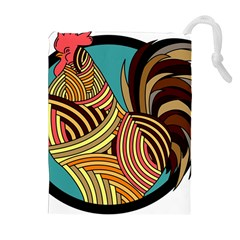 Rooster Poultry Animal Farm Drawstring Pouches (Extra Large)