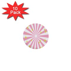 Star Pink Hole Hurak 1  Mini Buttons (10 pack)