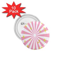 Star Pink Hole Hurak 1.75  Buttons (10 pack)
