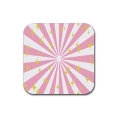 Star Pink Hole Hurak Rubber Square Coaster (4 Pack)