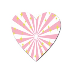 Star Pink Hole Hurak Heart Magnet