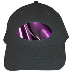 Purple Fractal Mathematics Abstract Black Cap