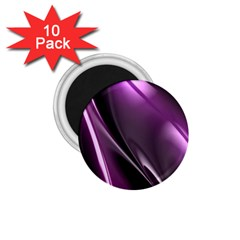 Purple Fractal Mathematics Abstract 1 75  Magnets (10 Pack)