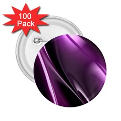 Purple Fractal Mathematics Abstract 2 25  Buttons (100 Pack)