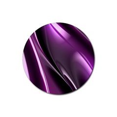 Purple Fractal Mathematics Abstract Rubber Round Coaster (4 Pack)