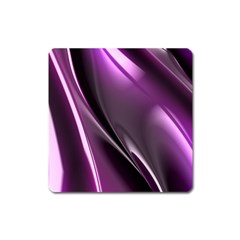 Purple Fractal Mathematics Abstract Square Magnet
