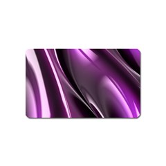 Purple Fractal Mathematics Abstract Magnet (name Card)