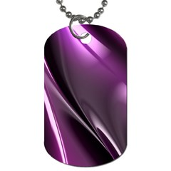 Purple Fractal Mathematics Abstract Dog Tag (one Side)