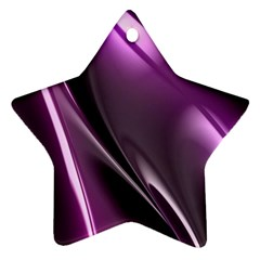 Purple Fractal Mathematics Abstract Star Ornament (two Sides)