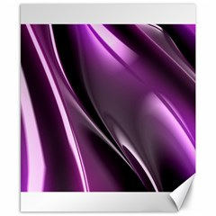 Purple Fractal Mathematics Abstract Canvas 8  X 10