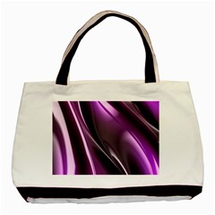 Purple Fractal Mathematics Abstract Basic Tote Bag (two Sides)
