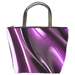 Purple Fractal Mathematics Abstract Bucket Bags