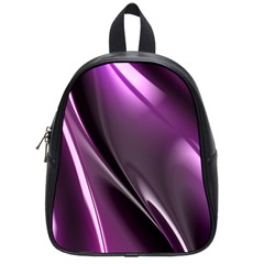 Purple Fractal Mathematics Abstract School Bags (small)