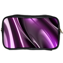 Purple Fractal Mathematics Abstract Toiletries Bags