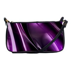 Purple Fractal Mathematics Abstract Shoulder Clutch Bags