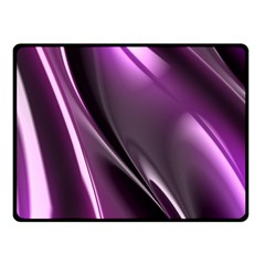 Purple Fractal Mathematics Abstract Fleece Blanket (small)