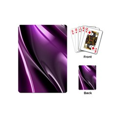 Purple Fractal Mathematics Abstract Playing Cards (mini)