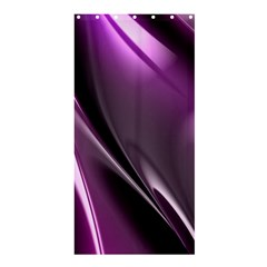 Purple Fractal Mathematics Abstract Shower Curtain 36  x 72  (Stall)