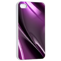 Purple Fractal Mathematics Abstract Apple Iphone 4/4s Seamless Case (white)