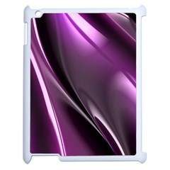 Purple Fractal Mathematics Abstract Apple Ipad 2 Case (white)