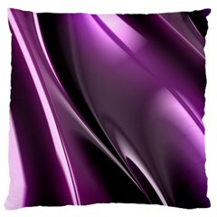 Purple Fractal Mathematics Abstract Large Cushion Case (two Sides)